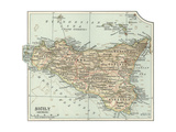 Plate 32 Inset Map of Sicily (Sicilia) Italy