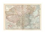 Map of the Chinese Empire (China) Insets of Hong Kong (British)  and Peking (Beijing)