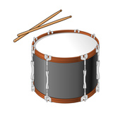 Tenor Drum and Drumsticks  Percussion  Musical Instrument