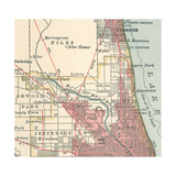 Map of the Northside of Chicago (C 1900)  Maps