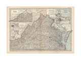 Plate 76 Map of Virginia United States Inset Maps of Western Part of Virginia