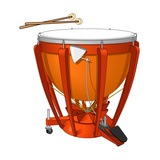 Timpani or Kettledrum and Drumsticks  Percussion  Musical Instrument