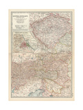 Map of Austria-Hungary  Western Part Inset of Vienna (Wien) and Vicinity