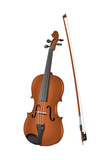Viola and Bow  Stringed Instrument  Musical Instrument