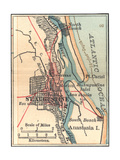Inset Map of St Augustine  Florida