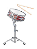 Snare Drum and Drumsticks  Percussion  Musical Instrument