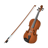 Violin and Bow  Stringed Instrument  Musical Instrument