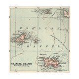 Inset Map of the Channel Islands Guernsey; Jersey; United Kingdom