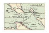 Inset Map of Mackinac Island and the Straits of Mackinac  Michigan