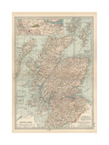 Map of Scotland Insets of the Shetland Islands and the Territory Between Glasgow and Edinburgh