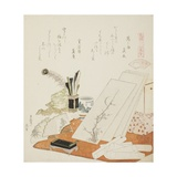 The Studio  Illustration for the White Shell (Shiragai)  1821