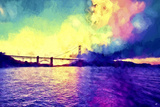 Watercolor Golden Gate Bridge