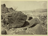Rock Carved by Drifting Sand  Below Fortification Rock  Arizona  1871