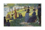 Oil Sketch for La Grande Jatte  1884