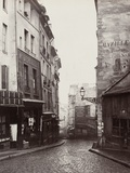 Rue De La Montagne-Sainte-Geneviève Near the Intersection of Rue Laplace  1865-69