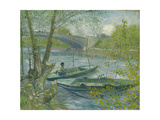Fishing in Spring  the Pont De Clichy (Asnières)  1887