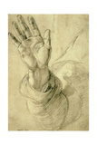 Upraised Right Hand  with Palm Facing Outward: Study for Saint Peter  1518-20