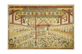 Large Perspective Picture of the Kaomise Performance on the Kabuki Stage  C1745