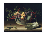 Still Life with a Basket of Fruit and a Bunch of Asparagus  1630