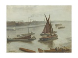 Grey and Silver: Old Battersea Reach  1863