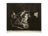 Three Persons Viewing the Gladiator by Candlelight  Engraved by William Pether  1769