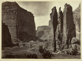 Cañon De Chelle  Walls of the Grand Cañon  About 1200 Feet in Height  1873