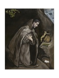 Saint Francis Kneeling in Meditation  1595-1600