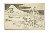 Mount Fuji in Winter  from the Picture Book of Realistic Paintings of Hokusai  C1814