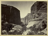 Head of Cañon De Chelle  Looking Down Walls About 1200 Feet in Height  1873