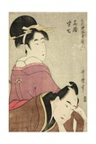 Sankatsu and Hanshichi  from the Series Fashionable Patterns in Utamaro Style  C1798-99