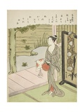 Poem by Fujiwara No Toshiyuki  from an Untitled Series of Thirty-Six Immortal Poets  C1767-68