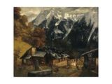 An Alpine Scene  1874
