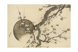 Plum Blossom and the Moon from the Book Mount Fuji in Spring (Haru No Fuji), C.1803 Reproduction d'art par Katsushika Hokusai
