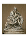 Study for the Sculpture 'Ugolino and His Children'  1860