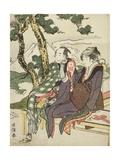 Evening Glow for Date No Yosaku and Seki No Koman  1801-04