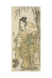 The Actor Ichikawa Komazo as a Woman with Dishevelled Hair  C1791