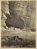 Ancient Ruins in the Canyon De Chelly  NM  in a Niche 50 Feet Above Present Canyon Bed  1873