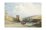 The Entrance to the Harbour of Marseilles  C1838