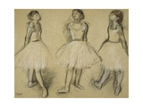 Three Studies of a Dancer in Fourth Position  1879-80