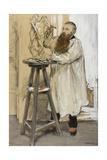 Portrait of the Sculptor Auguste Rodin in His Studio  C1889