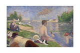 Final Study for Bathers at Asnières  1883