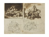 Five Sketches for a Cavalry Battle  1813-14