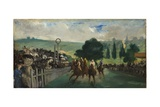 The Races at Longchamp  1866