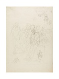 A Group of Men  and Other Sketches  1857