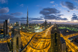 The Burj Khalifa Dubai  View across Sheikh Zayed Road and Financial Centre Road Interchange