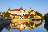 Neuburg Castle Reflected in the River Danube  Neuburg  Neuburg-Schrobenhausen  Bavaria  Germany