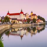 Neuburg Castle Reflected in the River Danube at Dawn  Neuburg  Neuburg-Schrobenhausen