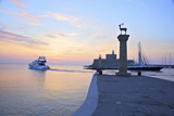 Bronze Doe and Stag Statues at the Entrance of Mandraki Harbour  Rhodes  Dodecanese