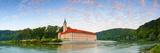 The Picturesque Weltenburg Abbey and the River Danube Illuminated at Sunrise  Lower Bavaria  Bavari