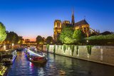 Notre Dame Cathedral and the River Seine  Paris  France  Europe